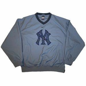 New York Yankees Nike V-Neck Windbreaker Pullover